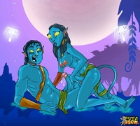 fucked neytiri - avatar chick porn futatoon cartoon transsexual pleasures avatar jake tastes neytiris cock