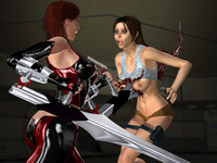 lara croft porn cartoons porn bloodrayne lara croft rayne tomb raider crossover eyeteeth comics pack characters idol