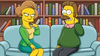 loving simpsons porn simpsons ned flanders edna krabappel wallpaper