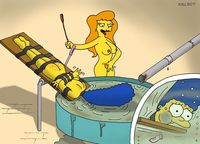 simpsons' wild adventures porn cartoon simpsons aslee naked