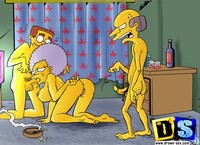 lisa simpson porn burns smithers night life