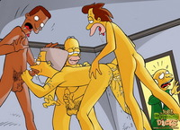 simpsons porn comics cartoon dicks simpsons crazy gay