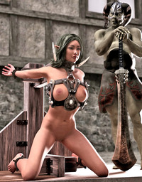 3d cartoon porn pic dmonstersex scj galleries kinky cartoon porn featuring sexy elf chick molested ugly demon
