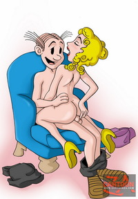 adult sex cartoon pictures blondie dagwood drawn gallery show all over dagwoods cock attachment