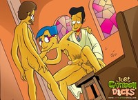 adult simpson toons dicks simp sexytoon simpsons wild gay toon passions cartoon toons
