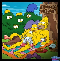 adult simpsons toons effb abraham simpson bart homer lisa marge selma bouvier simpsons toon party