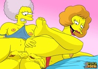 adult simpsons toons fcb ceef maude flanders patty bouvier simpsons futa toon