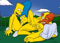 adult simpsons toons bfcd bart simpson groundskeeper willie marge simpsons toonfanclub