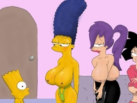 bart simpson porn media original leela porn amy simpson wong marge simpsons bart futurama crossover