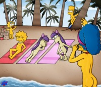 bart simpson porn bart simpson lisa maggie marge sherri terri simpsons wdj animated helix