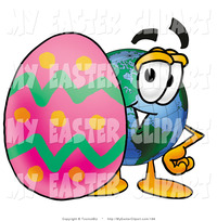 animated character porn clip art world earth globe mascot cartoon character standing behind easter egg toons biz clipart