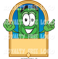 animated character porn logo happy green dollar bill mascot cartoon character blank tan label toons biz preview friendly