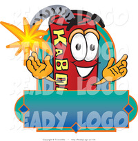animated character porn logo smiling stick dynamite mascot cartoon character blank label toons biz