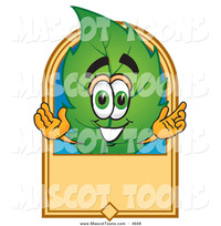 animated character porn mascot vector cartoon eco friendly leaf character blank tan label toons biz preview stock
