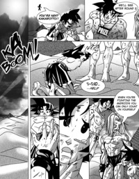 dbz porn comics media original comic gay dbz yaoi doujinshi gokuxvegeta gohanxtrunks naked training desert porn comics