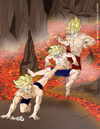 dragon ball z hentai media original alternative dragon ball kai volcano training hentai gallery