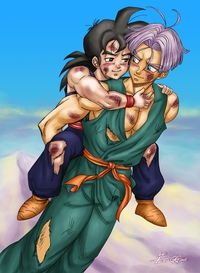 dragon ball z hentai dbz yaoi fanart gohanxtrunks dragon ball kai gay hentai peruggine hurt comfort after training