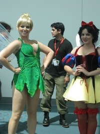 snow white porn disney princess sexy cosplay tinkerbell snow white posing comic con geek tits shelf porn princesses