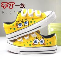 spongebob squarepants porn wsphoto hand painted shoes canvas casual student font spongebob sponge bob square pants cartoon porn rainpow