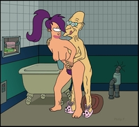 futurama porn media original futurama hubert farnsworth philipfry turanga leela