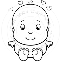 black cartoon porn pictures toonvectors clip art cartoon naked baby black white line