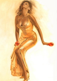 blonde cartoon porn scj galleries gallery passionate blonde lady poses sexy golden dress group dbdsm