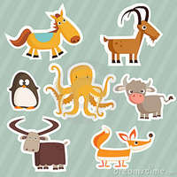 cartoon animal porn pics cartoon animal stickers alphabet octopus stock photography