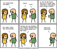 cartoon boobs pic pics comics drunk girl cyanide happiness search boobs cartoon
