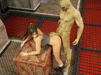 Are Monster porn lara croft