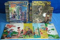 cartoon comic sex pic vintagetoy forsale july sexty lot comic cartoon magazines pierre davis cover art issues toys classified
