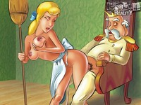famous cartoon porn cinderella gets slutty