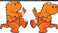 cartoon nude pic happy cartoon dinosaur dancing smiling eacfe tyrannosaurus rex cartoons