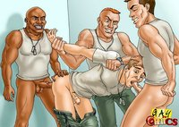 cartoon pictures of fucking naughty fellows enjoy fucking each mouths asses gay cartoon porn