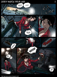 cartoon pon comics zoey watch ass page left dead comic ganassa