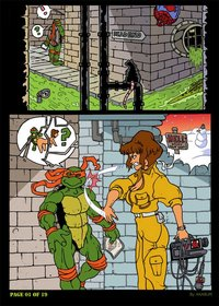 cartoon porn comic books april gets gangbang ninja turtles