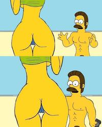 marge simpson porn marge simpson ned flanders simpsons