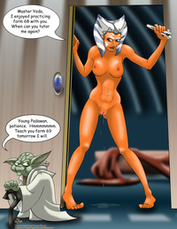 cartoon star wars porn pics media original ahsoka tano clone wars star yoda darklightsun togruta porn