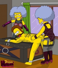 simpsons hentai drawn hentai ned flanders patty bouvier selma simpsons