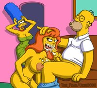 simpsons hentai homer simpson marge mindy simmons fear simpsons odin hentai drawn