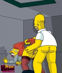 simpsons hentai faea drawn hentai homer simpson mindy simmons simpsons