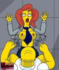Simpsons Hentai Drawn Homer Simpson Mindy Simmons