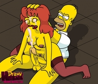 simpsons hentai aaf bdac bdb drawn hentai homer simpson mindy simmons simpsons