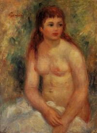 celebrity porn toons pierre auguste renoir seated young woman nude girls caught beach naked