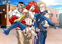 comix porn galleries gallery marvel comics porn avengers threesome