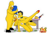 dirty toon sex marge gets talked hot threesome