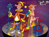 erotic cartoon porn pics erotic toons celebrate christmas round crazy porn party