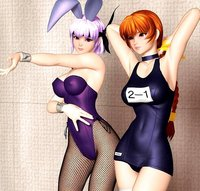 lola bunny hentai hentai animal ears ayane bunny bunnysuit dead alive erect nipples fishnets horizontal kasumi one piece swimsuit pantyhose polygon school porn page