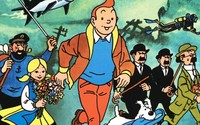 famous cartoon galleries large famous characters comic strips tintin snowy drawing colors print