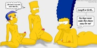 marge and bart simpson porn aee bart simpson marge milhouse van houten simpsons evilweazel cock suck