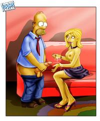 famous toons pics bfc becky homer simpson simpsons famous toons facial